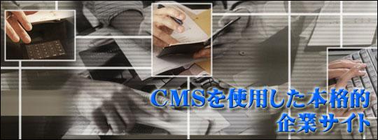 CMS(コンテンツ管理システム)を使用した本格的企業サイト